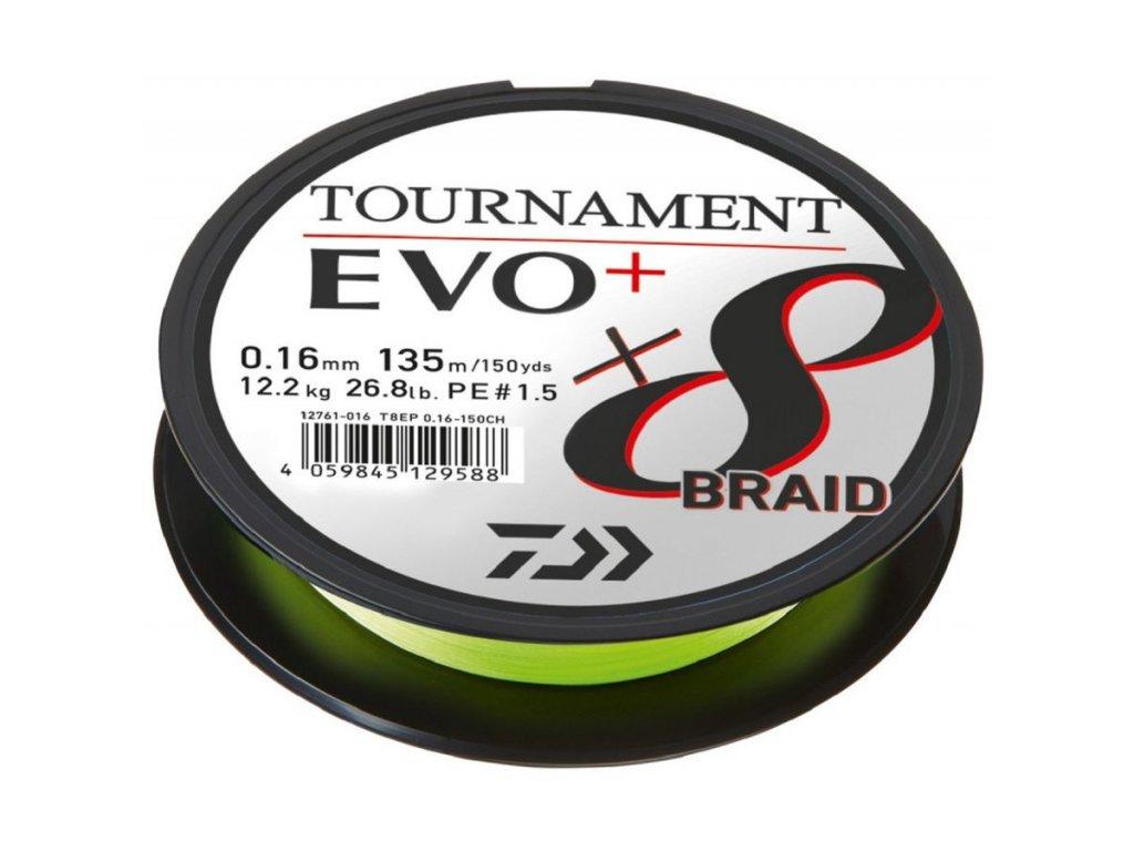 DAIWA Tournament X8 Braid Evo+ 135m Chartreuse