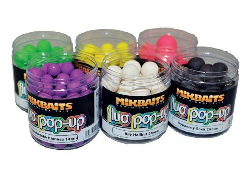MIKBAITS Fluo Pop Up Boilie 18mm