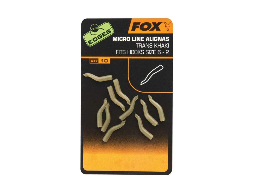 Krátké rovnátka na háček Fox Edges Micro Line Aligna 10ks