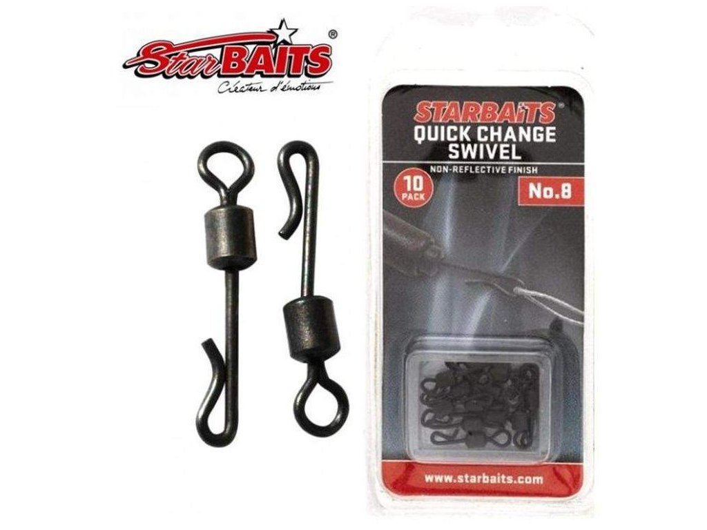 rychloobratlík Starbaits Quick change Swivel vel. 8