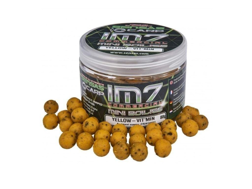 STARBAITS IM7 Mini Boilies Yellow-Vit'Min 80g