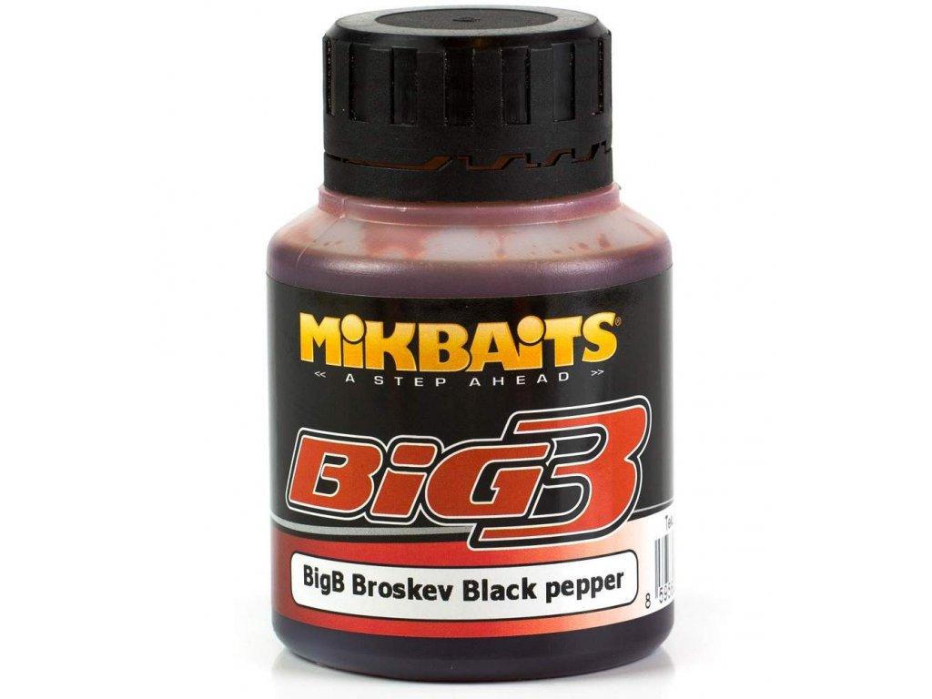booster Mikbaits ultra 250ml Broskev Black Pepper