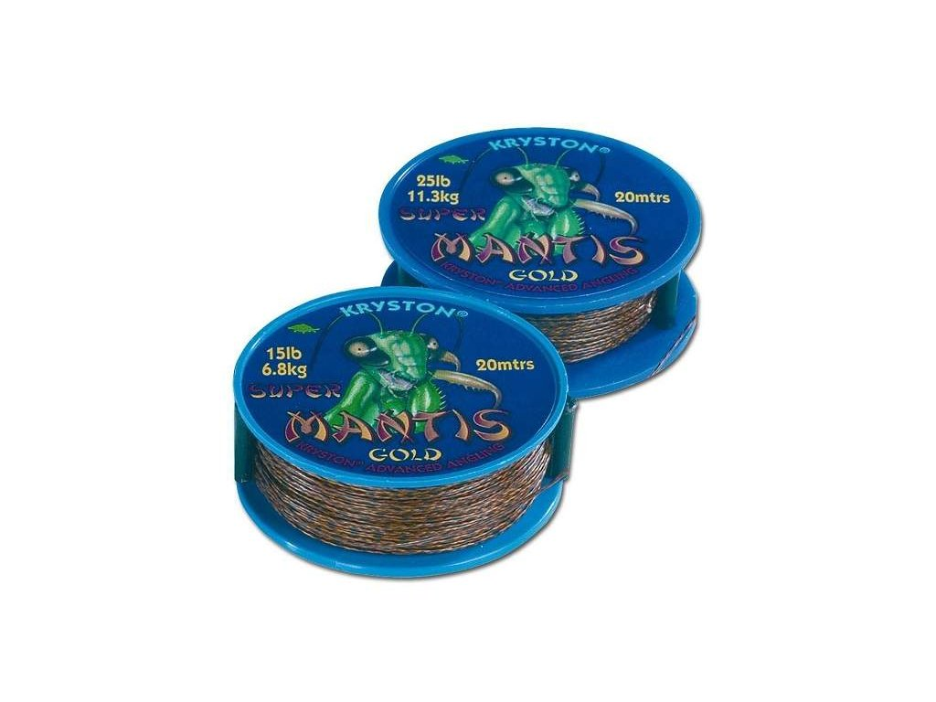 Kryston Super mantis gold 25lb 20m potahované šňůrky