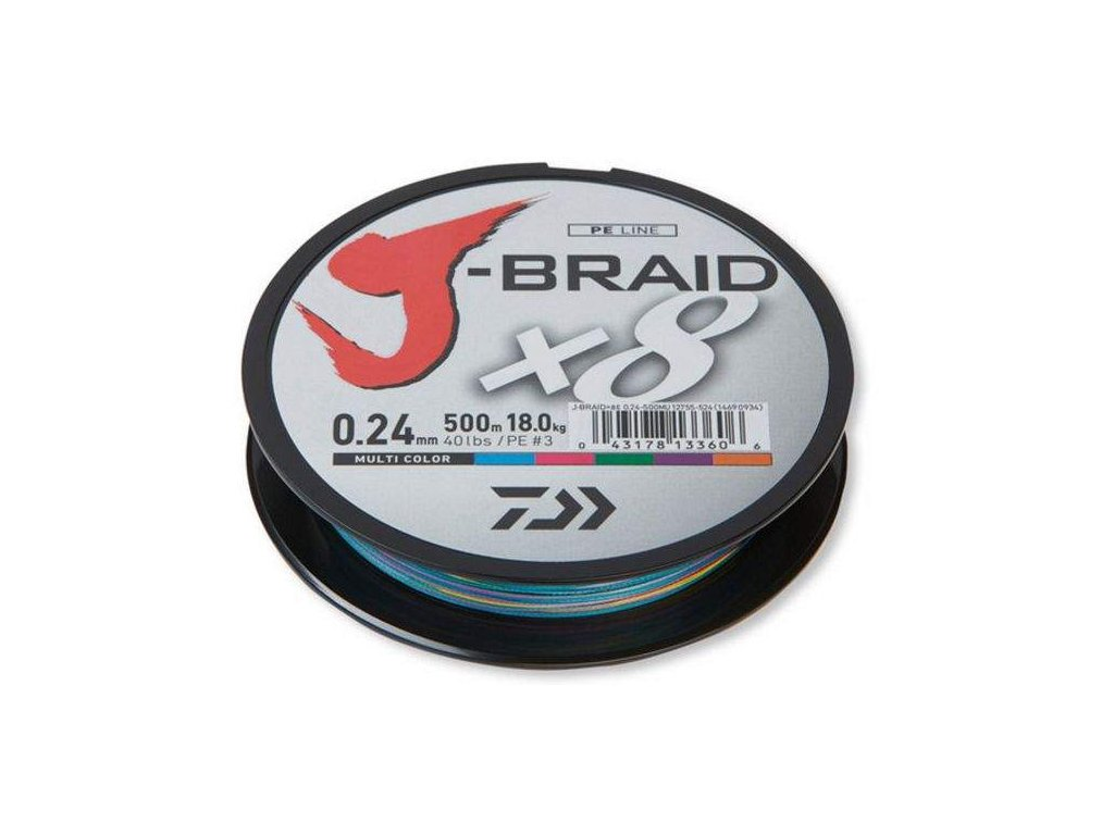 Pletená šňůra DAIWA J-Braid 8 - Multi Color