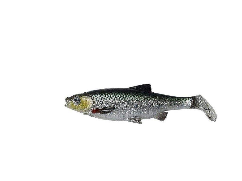 SAVAGE GEAR LB Roach Paddle Tail Bulk 10cm/10g Green Silver UV