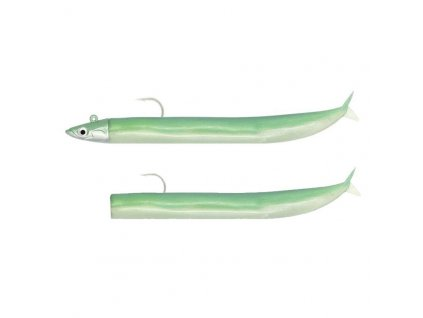 FIIISH Crazy Sand Eel 100 Combo Shore 5g Pearly Green/Pearly Green body