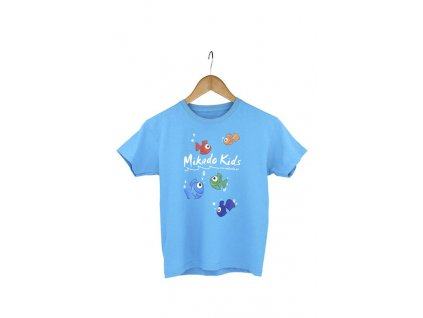 MIKADO T-Shirt with Overprint Kids, size 128 - Blue