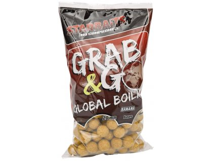 STARBAITS Global boilies Banana Cream 20mm 1kg