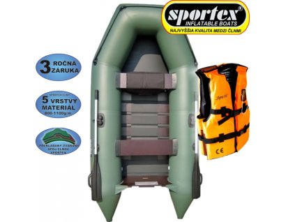 AKCE - Člun Sportex Shelf + záchranná vesta
