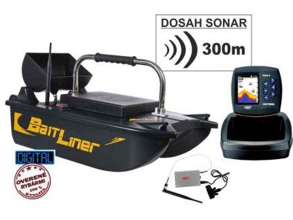 Akční set-Zavážecí loďka a bezdrátový sonar do 300m