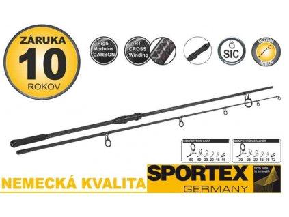 Kaprové pruty SPORTEX Competition Carp CS-4 2-díl 396cm / 3,75lbs