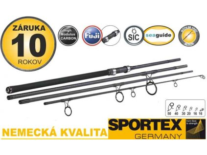 Kaprové pruty SPORTEX Touron Carp 4-díl 366cm / 3,00lbs
