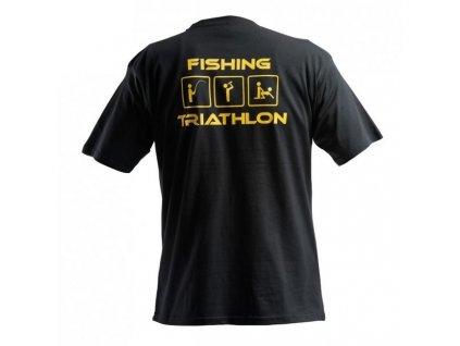 DOC FISHING Triathlon Black T-shirt