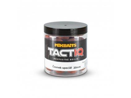 MIKBAITS TactiQ rozpustné boilie 250ml - česnek speciál