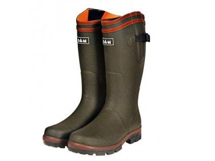 DAM Flex Rubber Boots Neoprene Lining - holinky