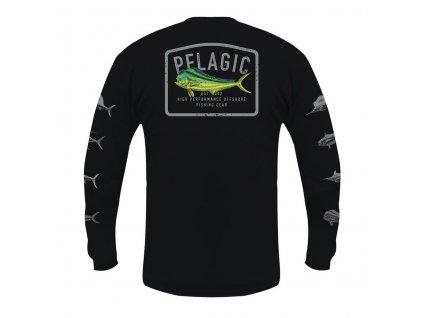 PELAGIC Game Fish Dorado LS Black