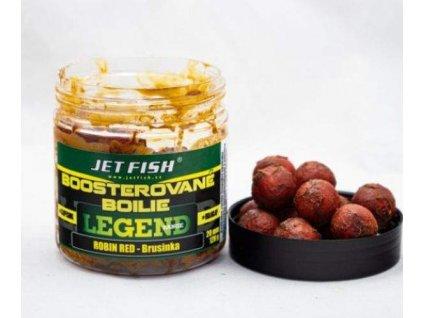JET FISH Boosterované boilie 250ml 20mm Robin Red/Brusinka