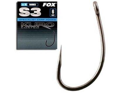 FOX háček bez protihrotu S3 Series Size 6 Barbless CHK130