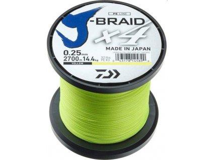 Daiwa J-Braid X4 Tmavě žlutá