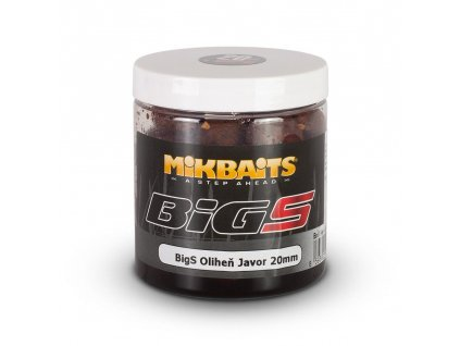 MIKBAITS BiG boilie v dipu BigS 250ml 20mm Oliheň/Javor