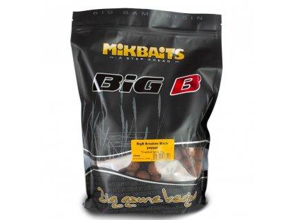 MIKBAITS BiG boilie BigB 1kg 20mm Broskev/Black Pepper
