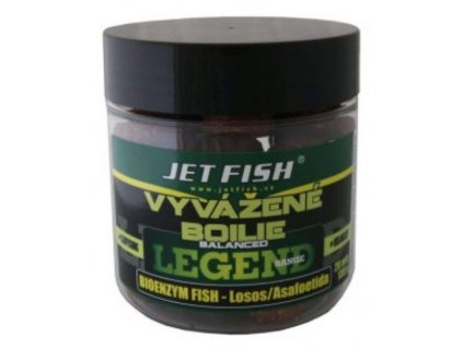 JET FISH Legend range Vyvážené boilie 130g-20mm- BIOENZYM FISH LOSOS/ASA