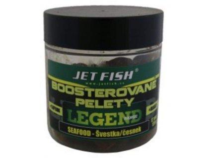 JET FISH Boosterované pelety120g 12mm Seafood Švestka/Česnek