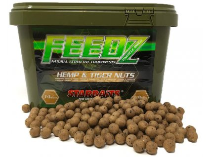 STARBAITS FEEDZ kyblík Hemp Tiger Nuts  20mm 4kg