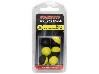 STARBAITS Two Tones Balls 14mm Černá/Žlutá 6ks
