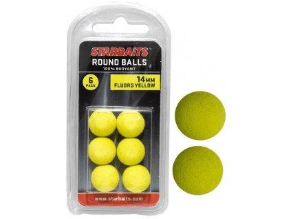 STARBAITS Round Balls 14mm Žlutá 6ks