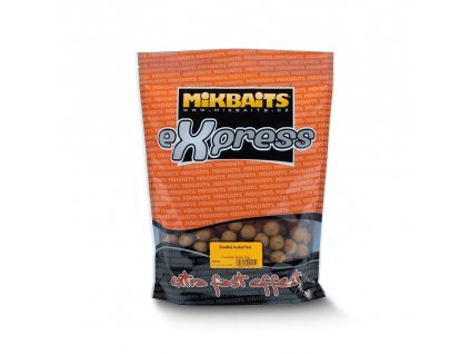 MIKBAITS eXpress boilie 1kg 18mm - sladká kukuřice