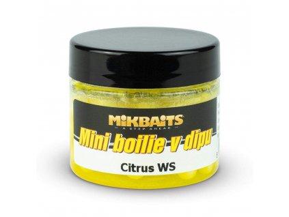 MIKBAITS Mini boilie v dipu 50ml - citrus WS