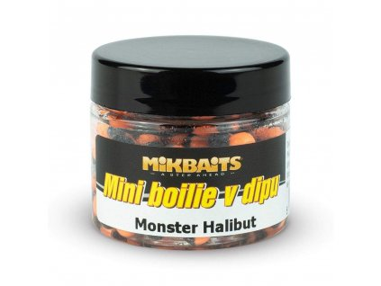 MIKBAITS Mini boilie v dipu 50ml - monster halibut