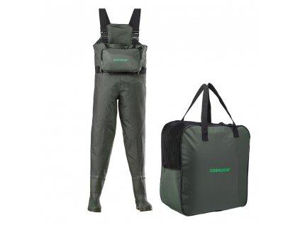 CORMORAN PVC kalhoty vysoké s kapsou vel. 43 ( prsačky, brodící kalhoty )