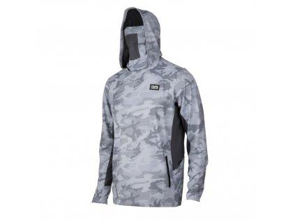 PELAGIC Exo Tech Hooded Shirt – Grey Fish Camo