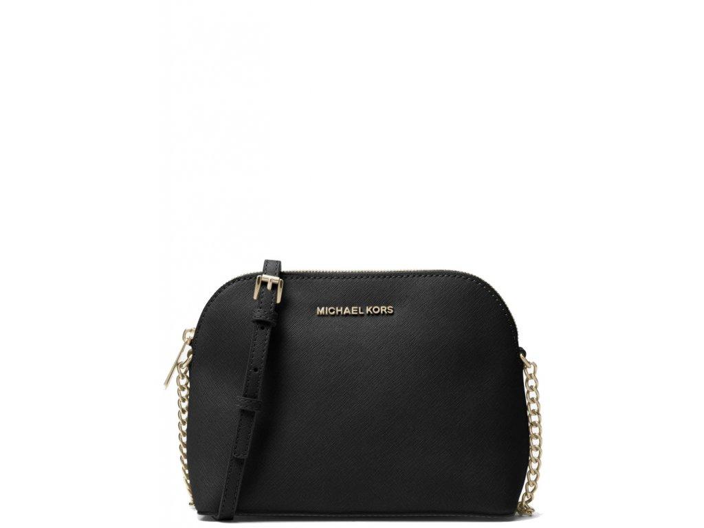 Cindy Large Saffiano Leather CrossbodyBlack