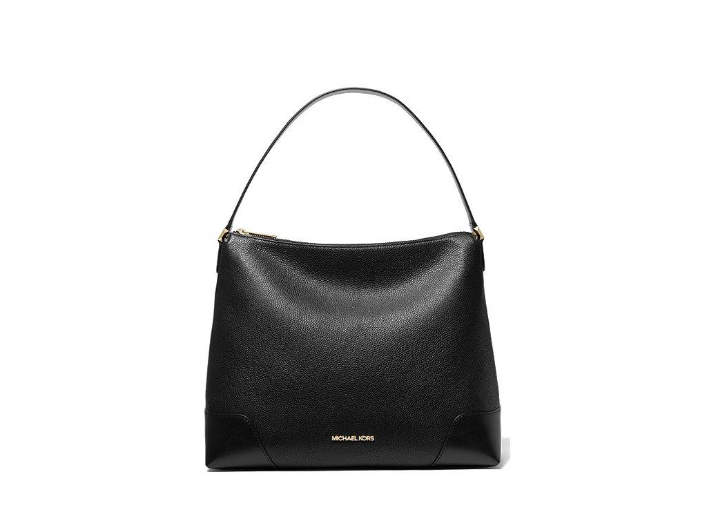 Michael Kors Crosby Large Leather Shoulder Bag Black