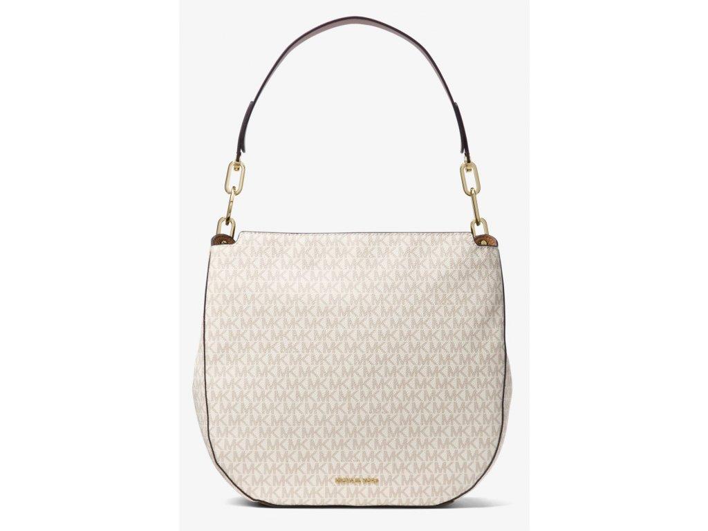Michael Kors Fulton Large Logo Shoulder Bag Vanilla