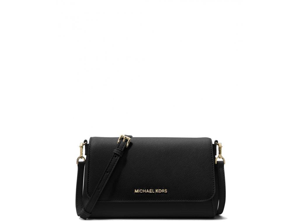 Michael Kors Medium Saffiano Leather Convertible Crossbody Bag blackaa