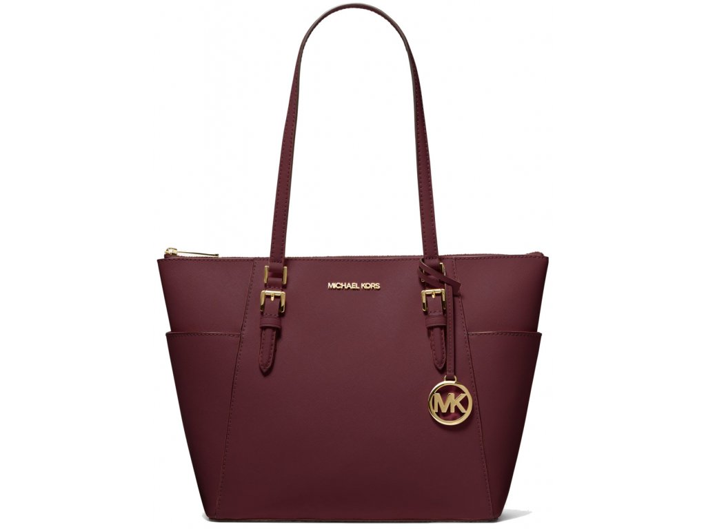 Charlotte Large Saffiano Leather Top Zip Tote Baga