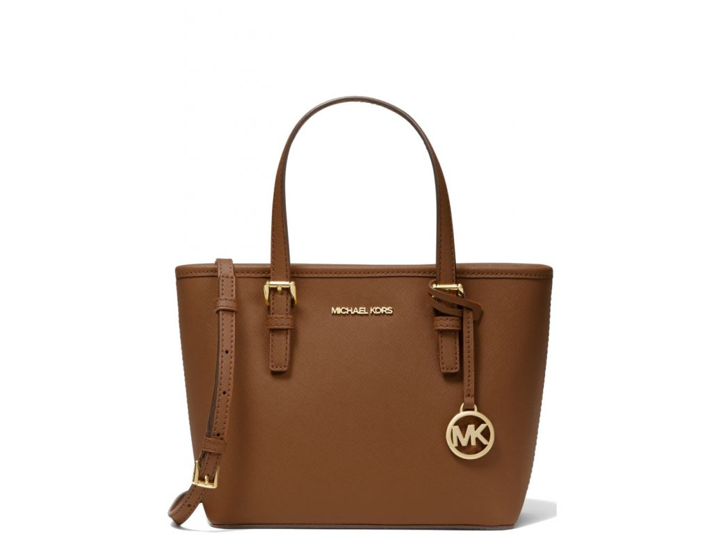 Michael Kors Jet Set Travel Extra Small Saffiano Leather Top Zip Tote Bag Luggage