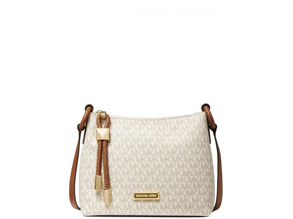 Michael Kors Lexington Large Logo Crossbody Bag Vanilla Luggage Gold