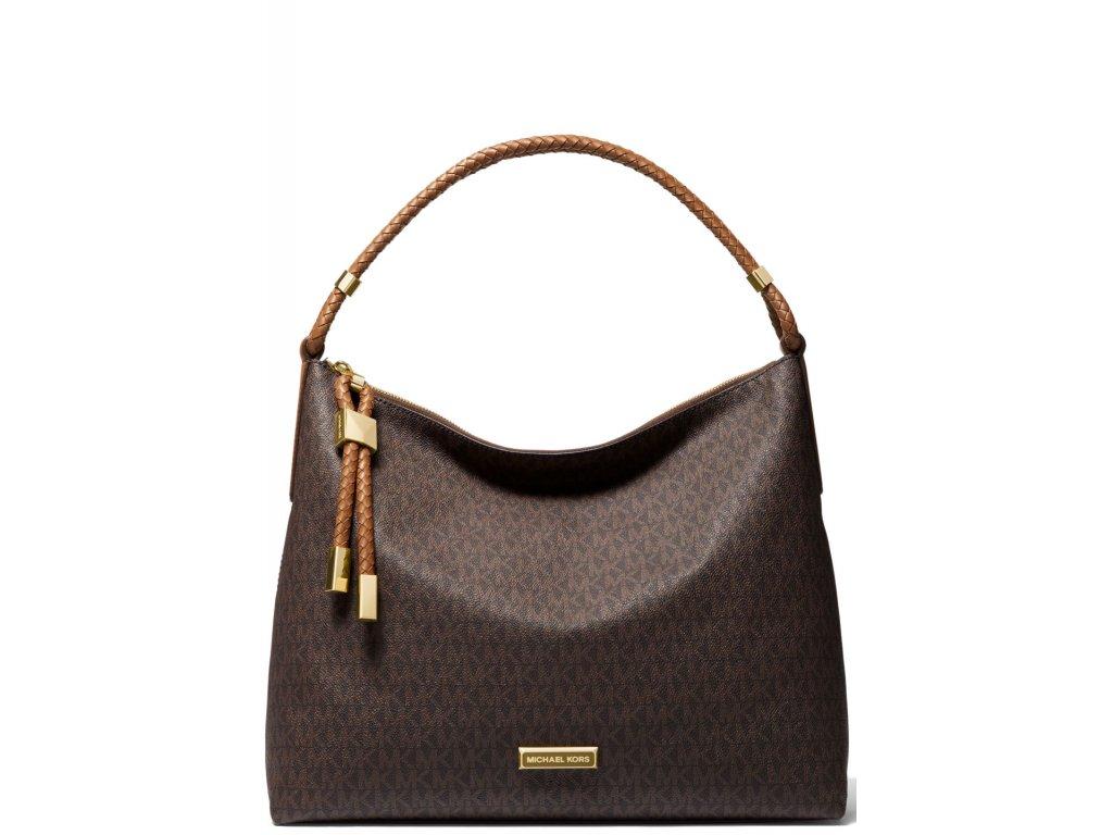 Michael Kors Kabelka Lexington Large Logo Shoulder Bag Brown Luggage