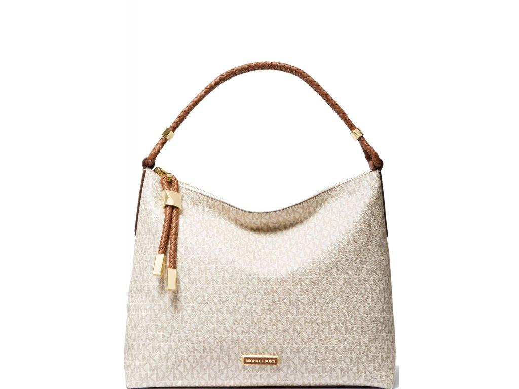 Michael Kors Kabelka Lexington Large Logo Shoulder Bag Vanilla Luggage