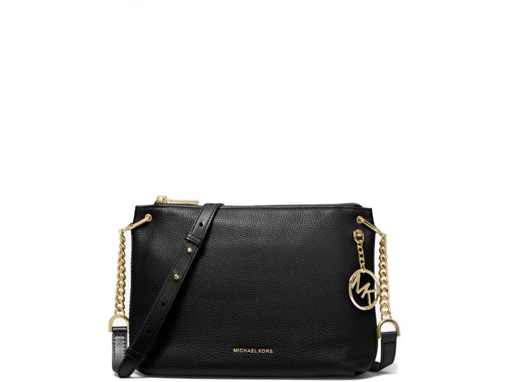 Michael Kors Lillie Large Pebbled Crossbody Bag Black