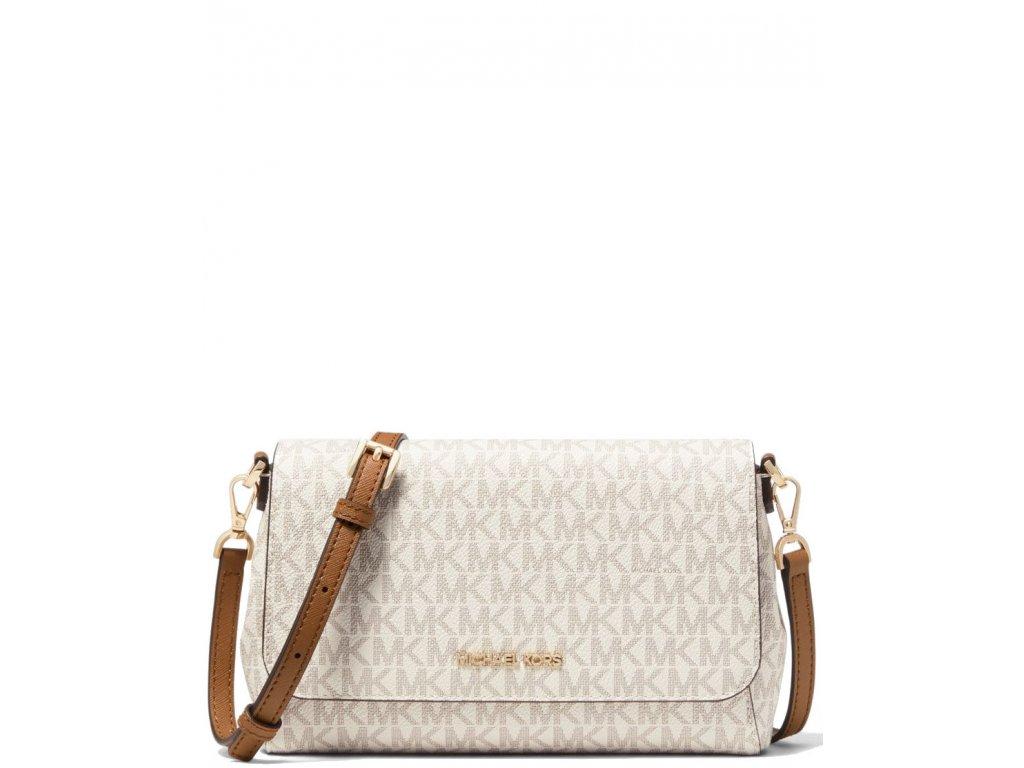 Michael Kors Medium Logo Convertible Crossbody Bag Vanilla