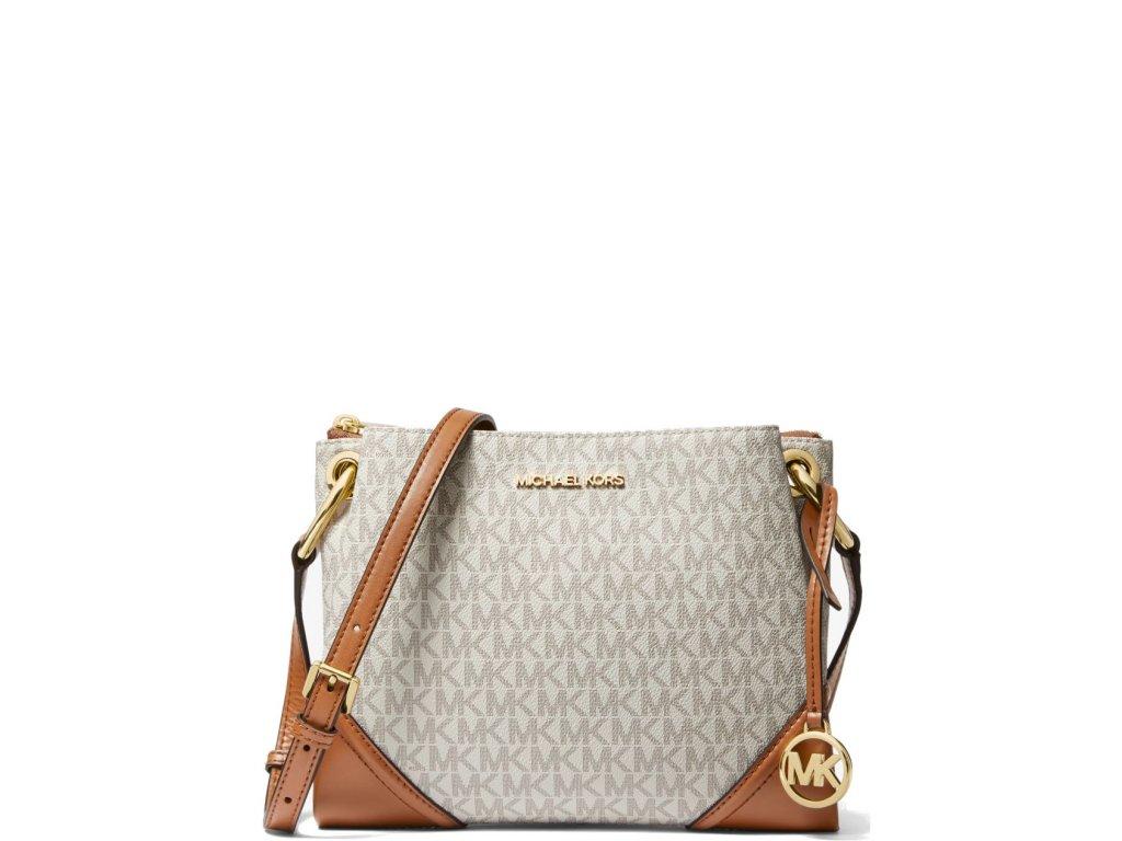 Michael Kors Nicole Large Logo Crossbody Bag Vanilla