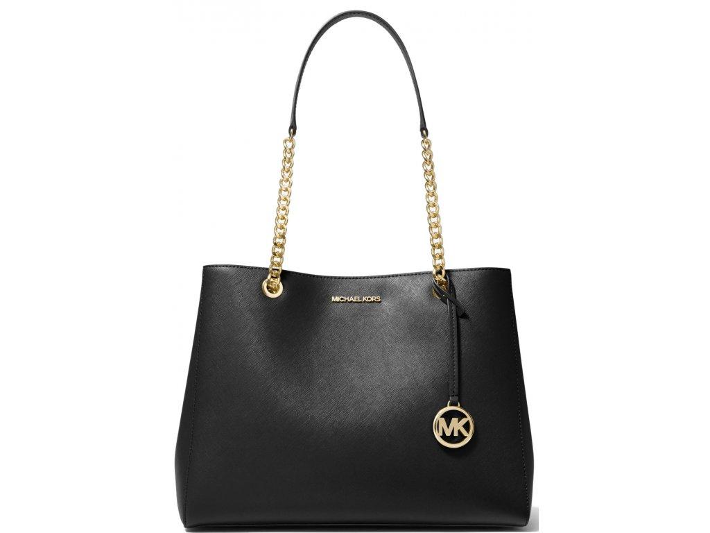 Michael Kors Susannah Large Saffiano Leather Shoulder Bag Black