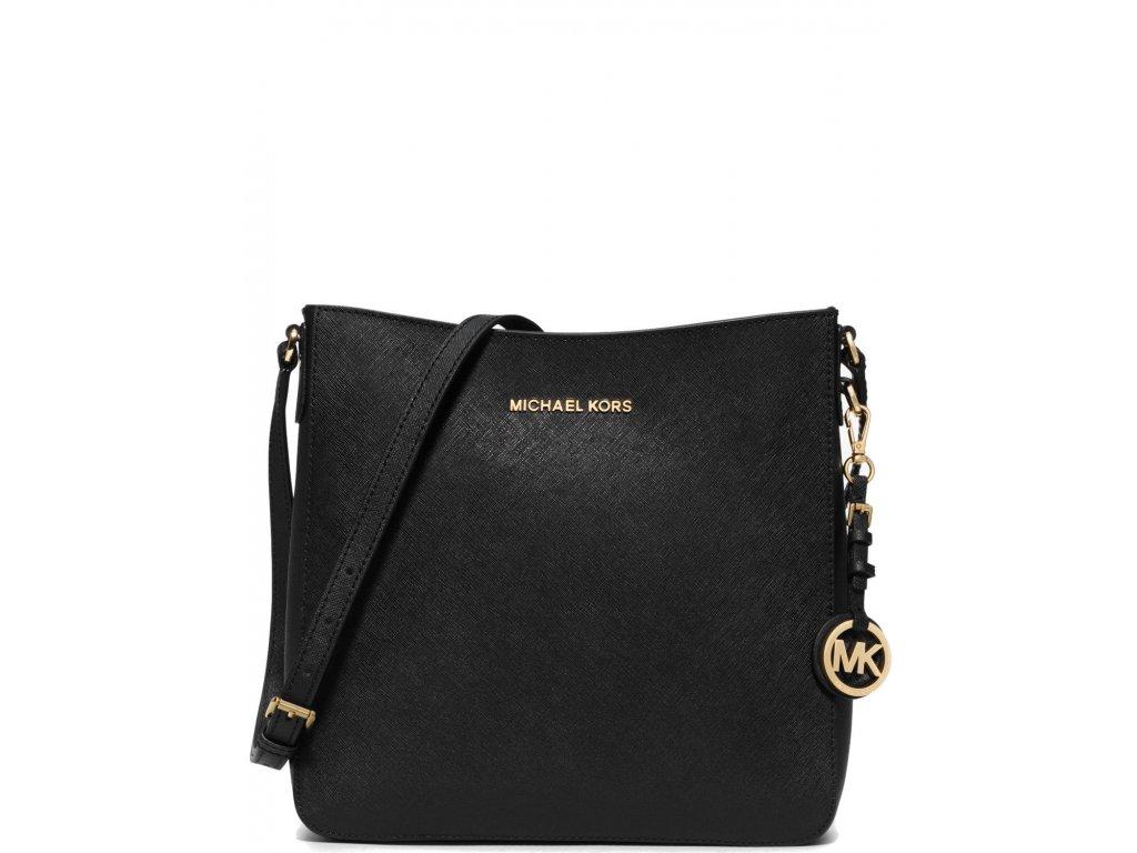 Michael Kors Kabelka Travel Large Saffiano Messenger Bag Black Golda