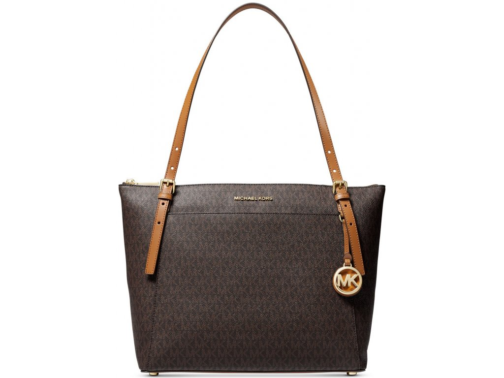 Voyager Large Signature East West Top Zip Tote